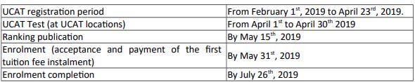 Unicamillus başvuru tarihleri